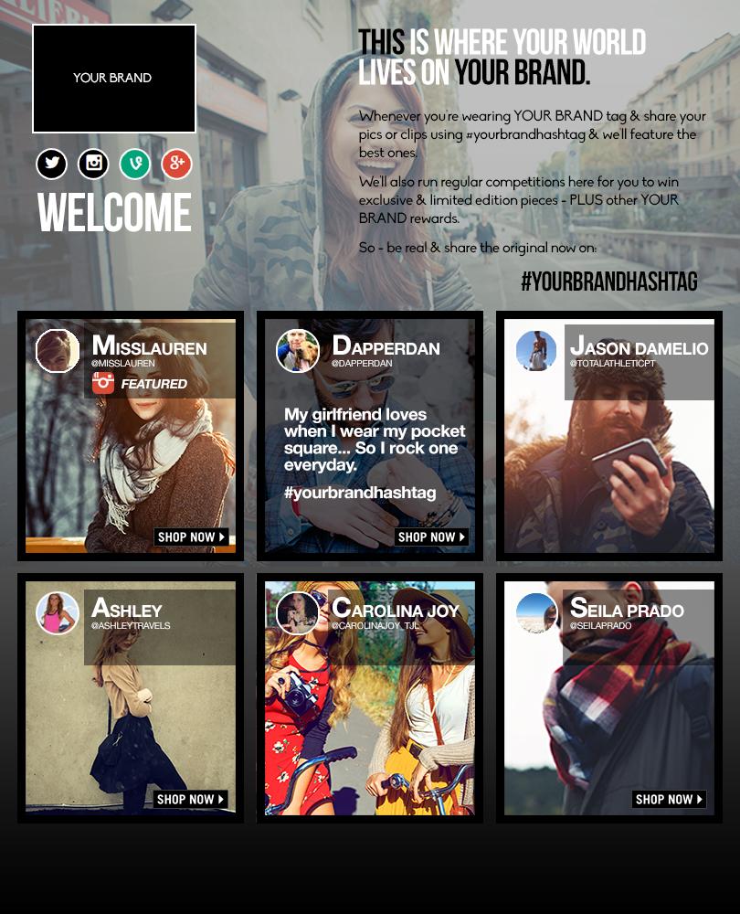 Fashion social campaign mini site 2015
