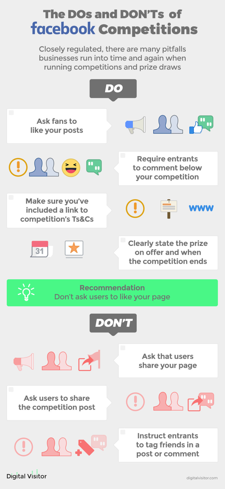 dos and donts facebook competitions